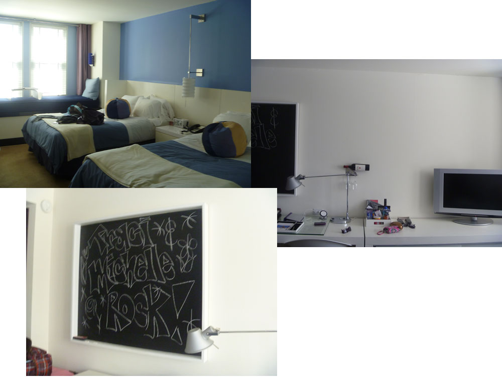 San Diego Hotel With Chalk Board In Room