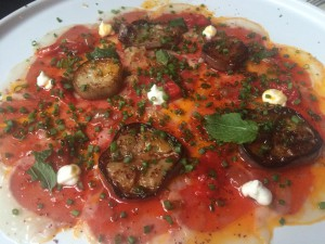 Lamb Carpaccio at Dirty French